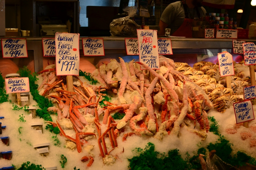 Fresh Crab at Pike Place Market, Seattle