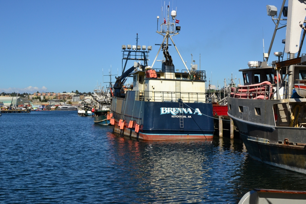 Brenna A from Deadliest Catch moored at Fisherman's Terminal, Seattle