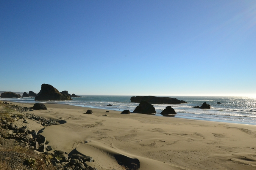 Sea stacks on the Oregon Coast, route 101