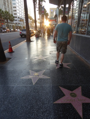 Walk of Fame, Hollywood, Los Angeles at Sunset