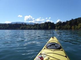 Sea kayaking in Fresh Water Bay near Port Angeles, Washington a tour with Adventures Through Kayaking