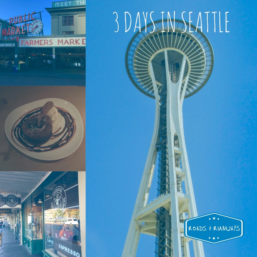 Pinterest image, 3 days in Seattle