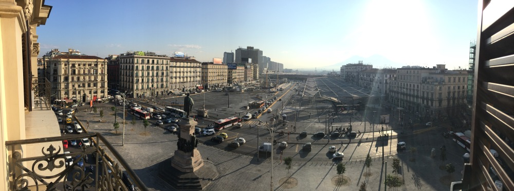 View from balcony at UNA Hotel Napoli