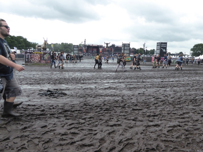 Wacken, Rain or Shine. Wet muddy day at WOA