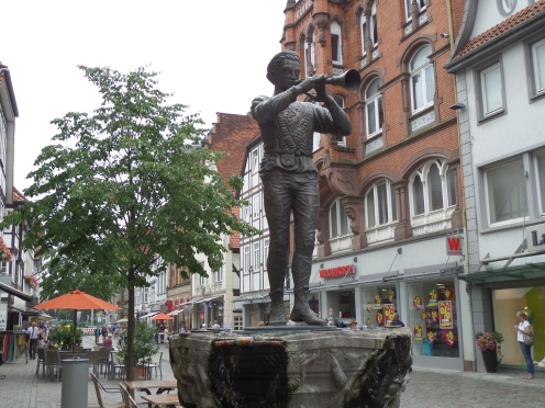 Pied Piper statue, Hamelin, Germany
