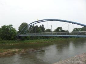 Bridge with rat statue in Hamelin, Germany