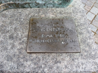 Plaque for Sculpture in Hameln Germany