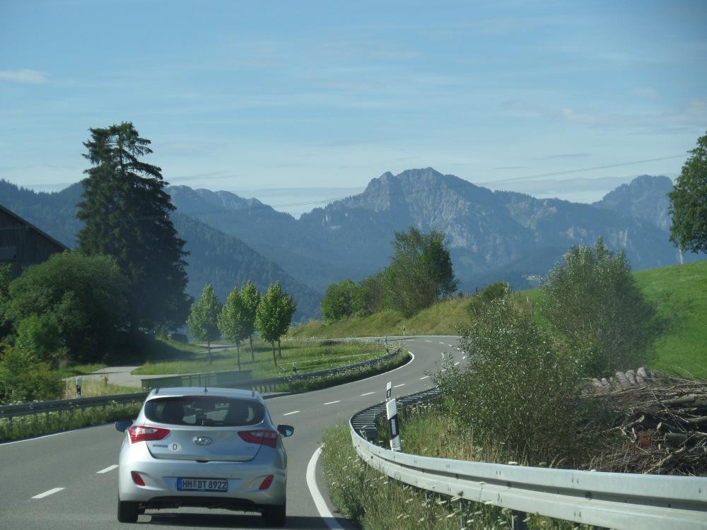 Driving through Bavaria, Germany
