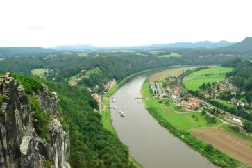 River Elbe from Basteibrucke