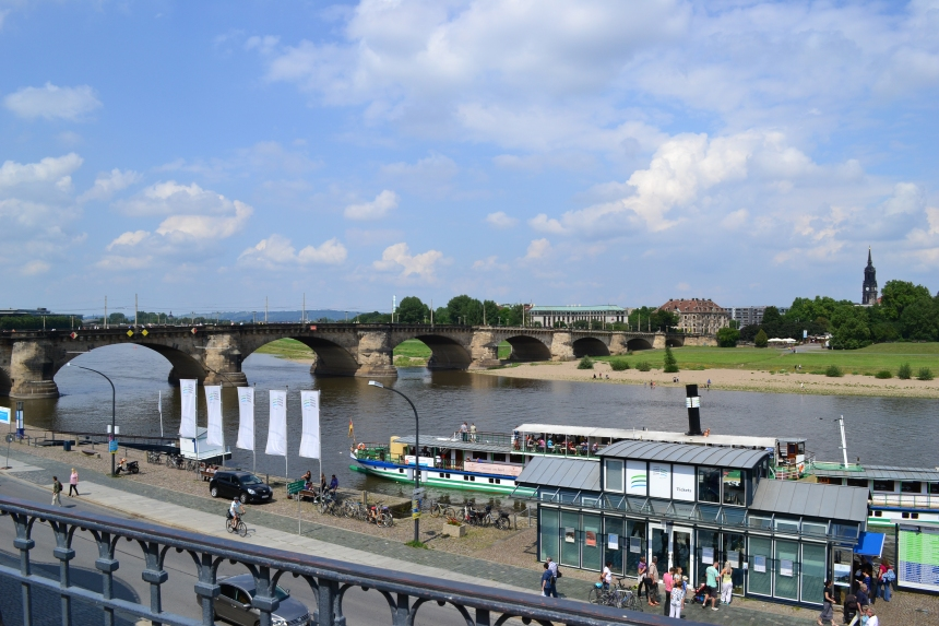 Elbe River in Dresden, Germany