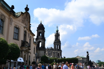 Brühl's Terrace and Dresden Cathedral