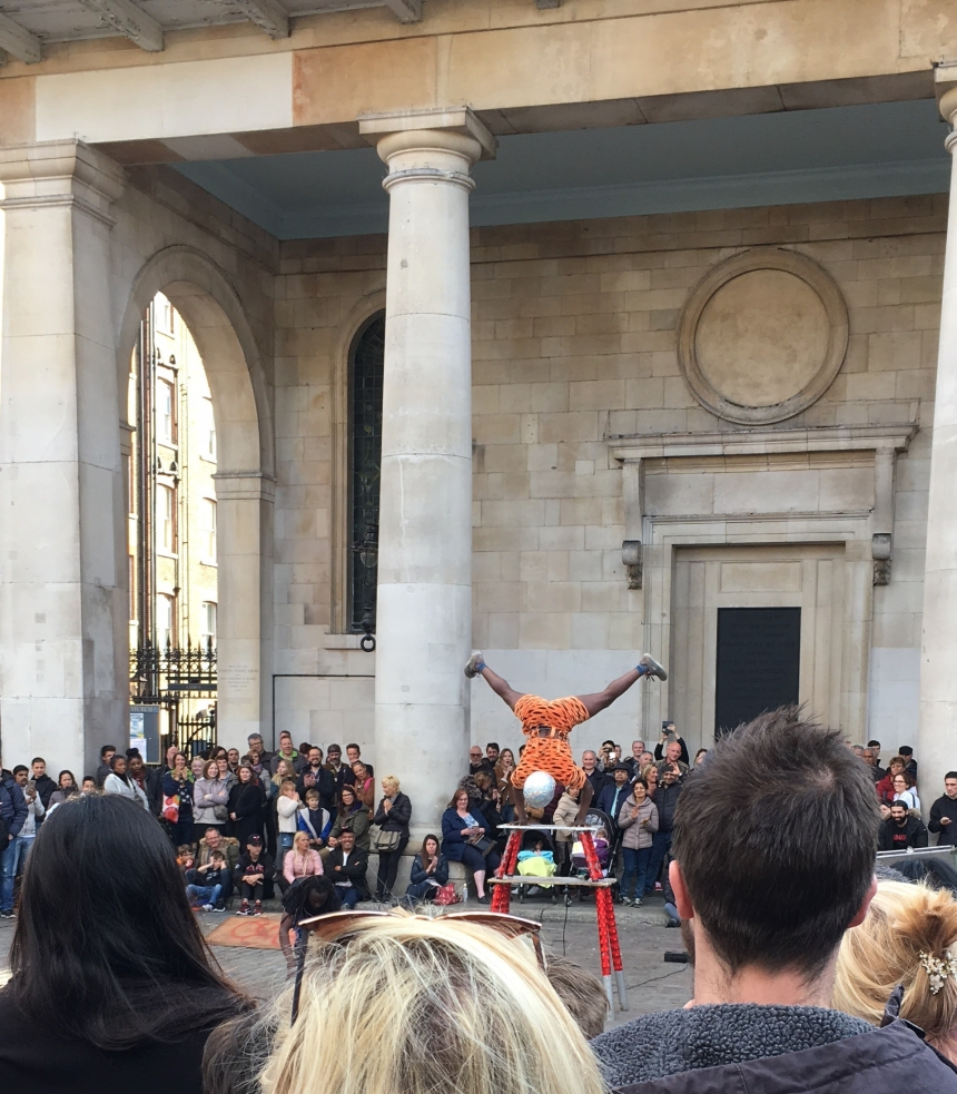 Street Performer in Covent Garden, London