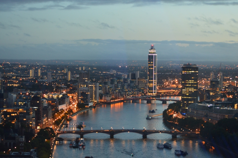 View of London sky line from the London Eye