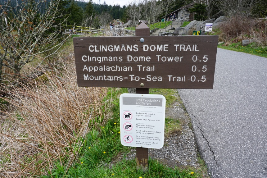 Sign at the start of the Clinghams Dome Trail