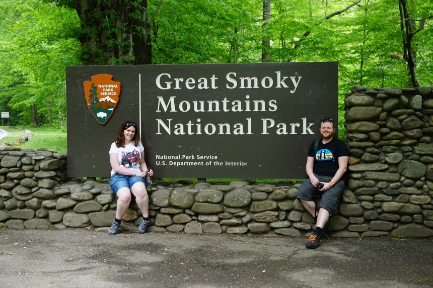 Sign for the Great Smoky Mountains National Park