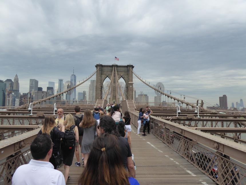 Brooklyn Bridge view towards Manhattan