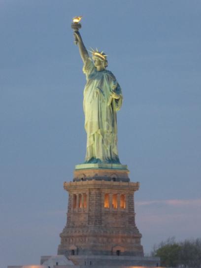 Statue of Liberty at night