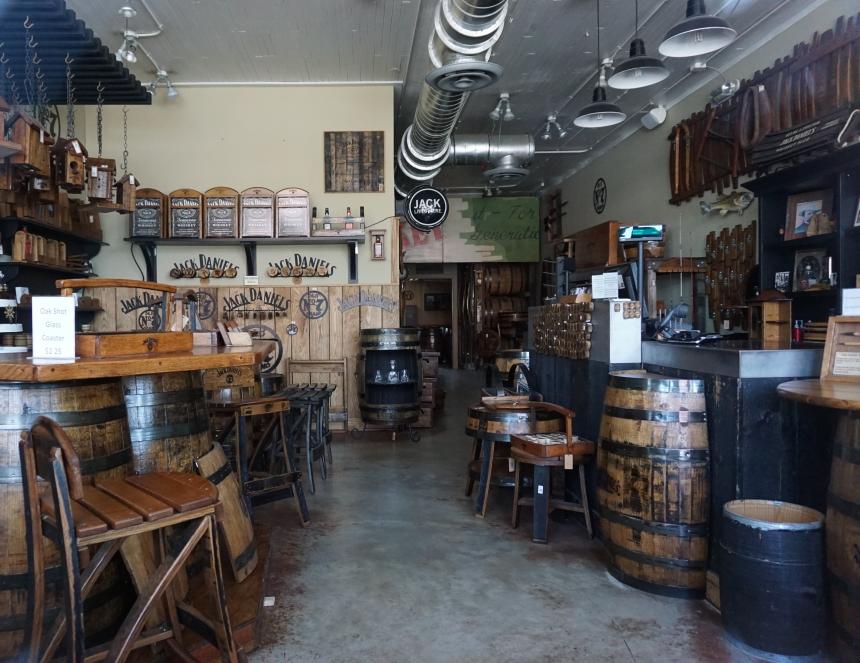 Lynchburg General Store, also Jack Daniel's memorabilia store