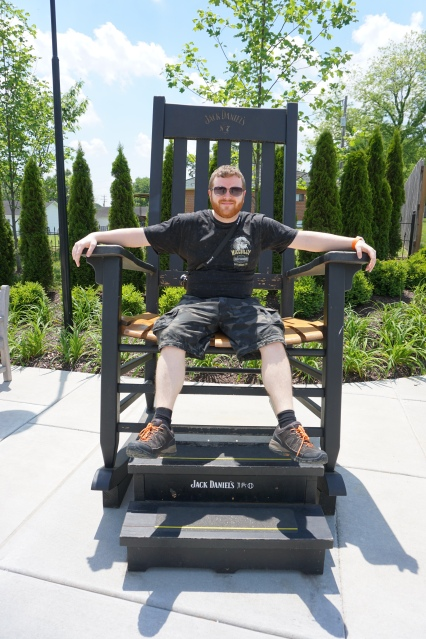 Massive Jack Daniel's chair at the Lynchburg Welcome Center
