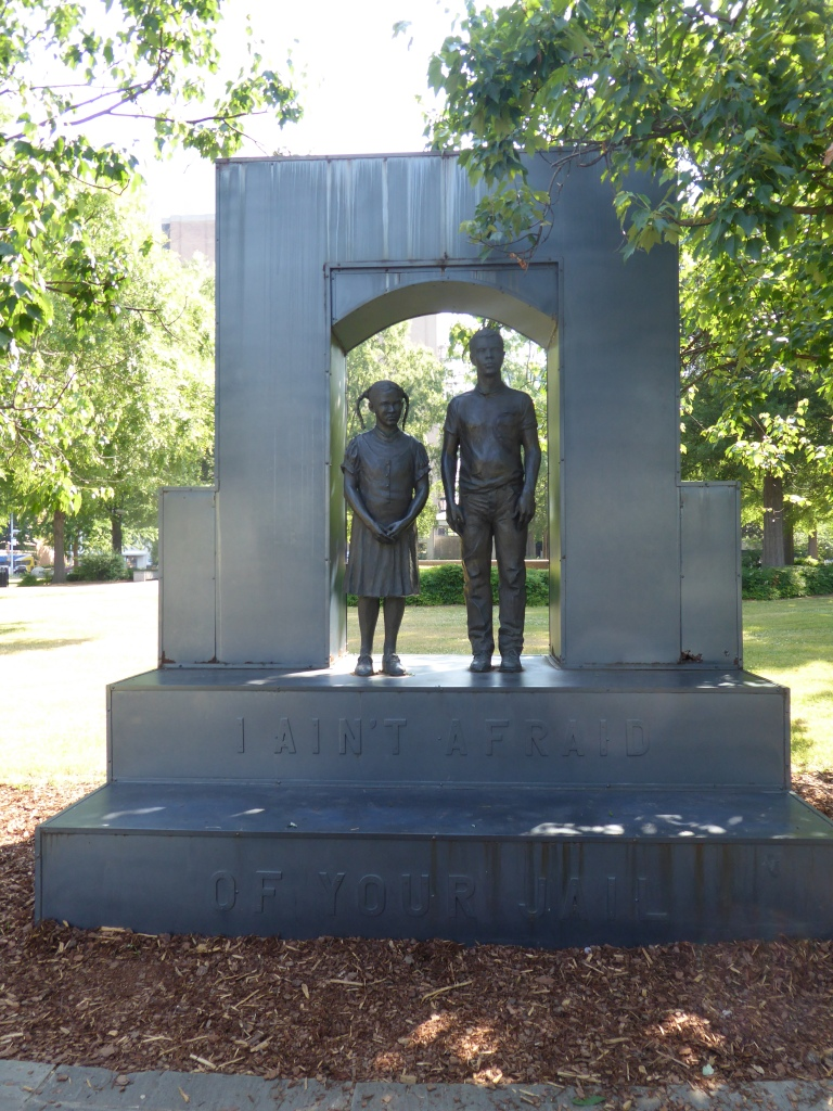 Monument in Kelly Ingram Park, Birmingham Alabama to remember children joining the civil rights movement