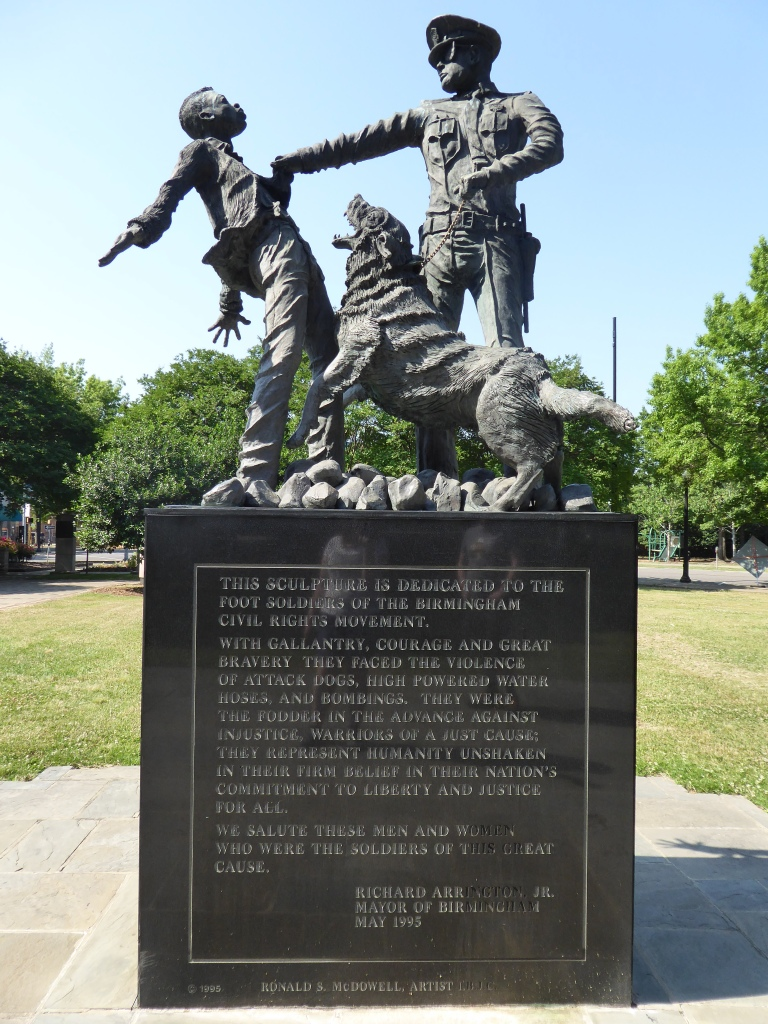 Sculpture dedicated to those who took part in the civil rights movement, Birmingham Alabama